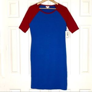 NWT Lularoe Red/Blue Julia Dress
